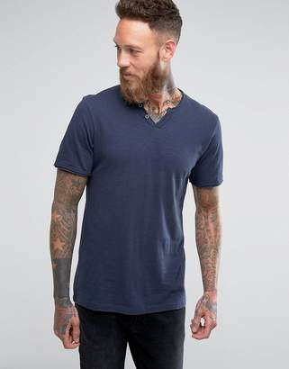 Jack and Jones Vintage T-Shirt With Split Neck Detail