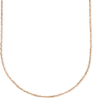 """Macy's 14k Rose Gold Necklace, 20"""" Perfectina Chain"""