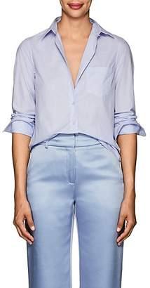 Barneys New York Women's Cotton Poplin Shirt - Blue
