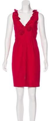 Carmen Marc Valvo Sleeveless Mini Dress