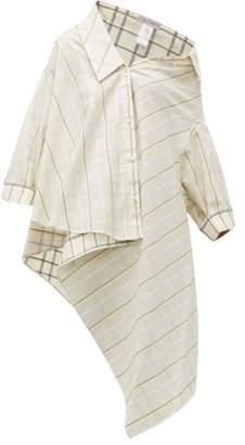 Palmer Harding Palmer//Harding Palmer//harding - Jasmin Reversible Check Print Cotton Shirt - Womens - White Multi