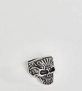 Reclaimed Vintage Inspired Chunky Skull Ring Exclusive To Asos