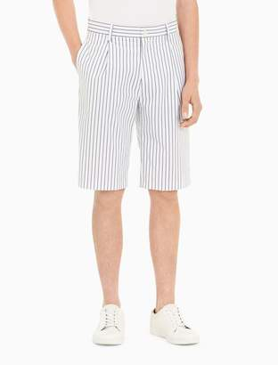 Calvin Klein striped pleated wide leg shorts