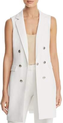 8fb69d09236dd4 Calvin Klein Double-Breasted Sleeveless Blazer