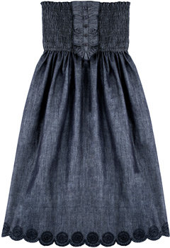 Stretch Denim Tube Dress