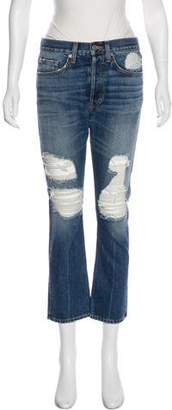 Brock Collection Mid-Rise Straight-Leg Jeans w/ Tags