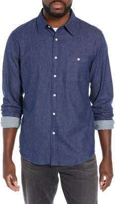 The Normal Brand Regular Fit Brushed Indigo Twill Sport Shirt