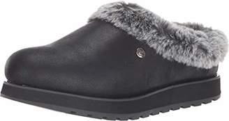 Skechers BOBS Women's Keepsakes-R E M Wide Width Faux Fur Lined Shootie with Memory Foam Slipper