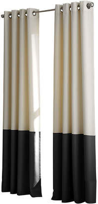 CHF Kendall Lined Colorblock Grommet-Top Curtain Panel