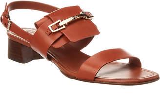 Tod's Block Heel Leather Sandal