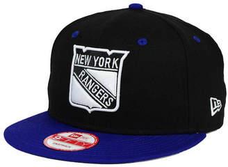 New Era New York Rangers Black White Team Color 9FIFTY Snapback Cap