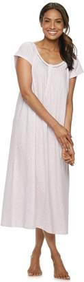 Croft & Barrow Women's Printed Lace Nightgown