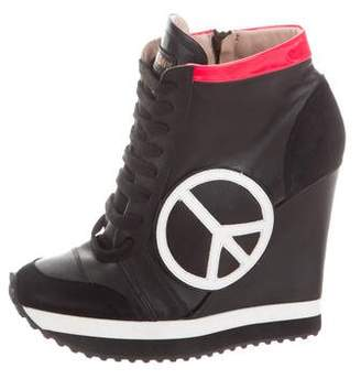 Ruthie Davis Leather Wedge Sneakers