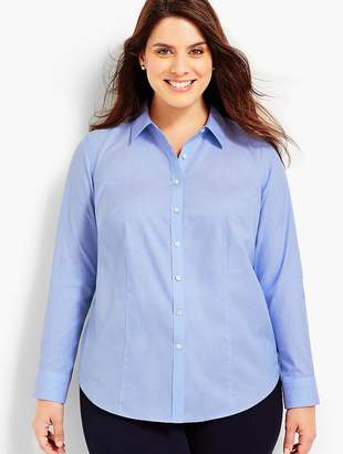 Talbots Plus Size Exclusive The Longer-Length Long-Sleeve Shirt - End-On-End
