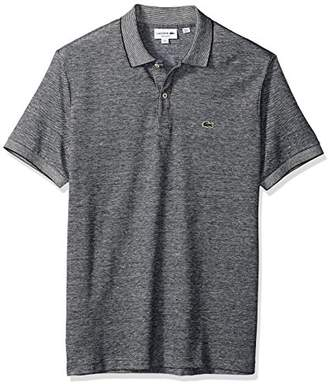 Lacoste Men's Short Sleeve Cotton/Linen Slim Polo
