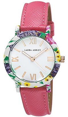 Laura Ashley Women's LA31003PK Floral Stainless Steel Watch with Pink Strap $39.99 thestylecure.com