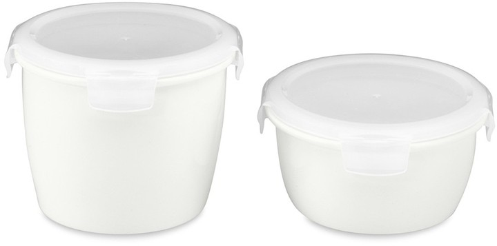 Williams-Sonoma Porcelain Tall Round Storage Containers, Set of 2