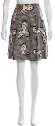Zero Maria Cornejo Printed Knee-Length Skirt