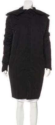Rick Owens Knee-Length Hooded Coat