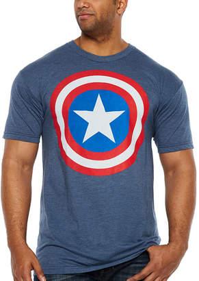 Novelty T-Shirts Dim Shield Short Sleeve Marvel Graphic T-Shirt-Big and Tall