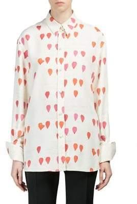Alexander McQueen Silk Printed Shirt