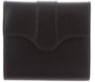 Valextra Leather Compact Wallet