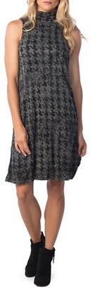 Kensie Houndstooth Turtleneck Sheath Dress $69 thestylecure.com