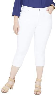NYDJ Plus Capri Released Hem Skinny Jeans in Optic White