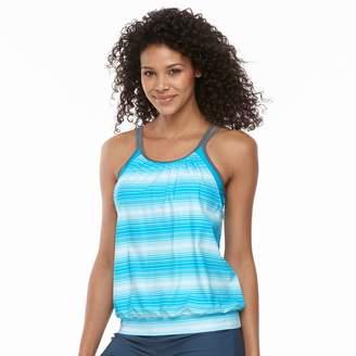Free Country Women's Stripe Blouson Tankini Top