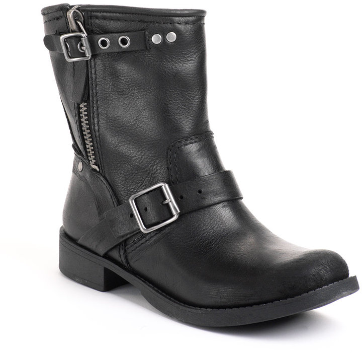 NINE WEST Runway Relief Leather Ankle Boots