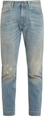 Gucci Distressed straight-leg jeans