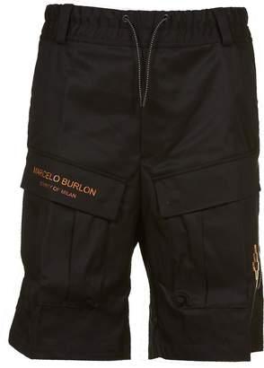 Marcelo Burlon County of Milan Fire Cross Cargo Shorts