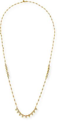 Amrapali Legend Kundan Diamond Teardrop Station Necklace