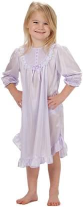 Laura Dare Little Girls Purple Long Sleeve PJ Nightgown