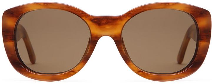 Dries Van Noten x Linda Farrow / rounded sunglasses