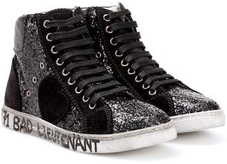 Saint Laurent Antibe 05 glitter high-top sneakers