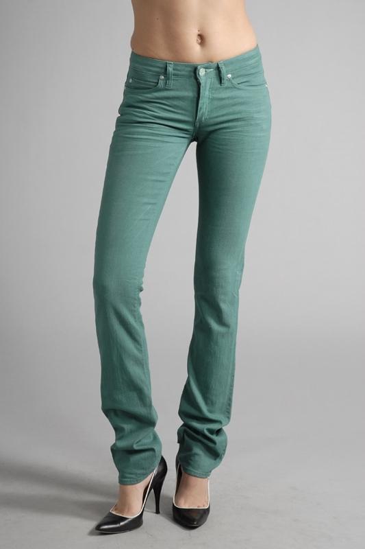Acne Jeans Hep Skinny Jeans in Twill Jade