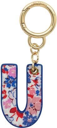 Cath Kidston Mews Ditsy Bag Charm/Key Ring Initial Charm U