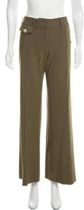 Veronica Beard Mid-Rise Wide-Leg Pants