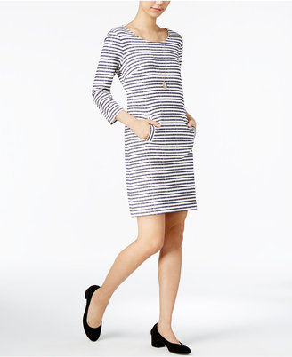Maison Jules Striped Shift Dress, Created for Macy's $79.50 thestylecure.com