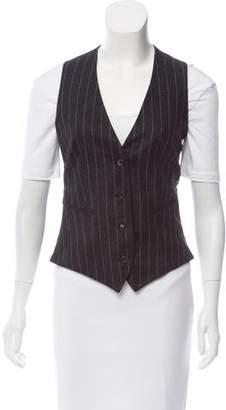 Kiton Pinstripe Cashmere Vest