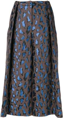 Just Cavalli cropped flared trousers