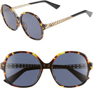 Christian Dior Diorama 58mm Special Fit Round Sunglasses