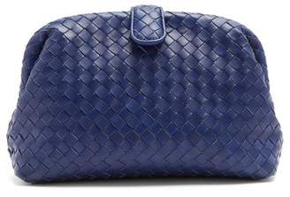 Bottega Veneta The Lauren 1980 Intrecciato Leather Clutch - Womens - Blue
