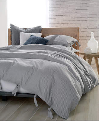 DKNY Pure Cotton Stripe Full/Queen Duvet Cover Bedding
