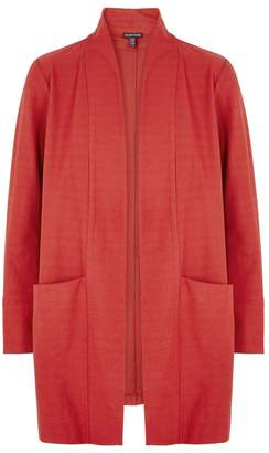 Eileen Fisher Red Stretch-crepe Jacket