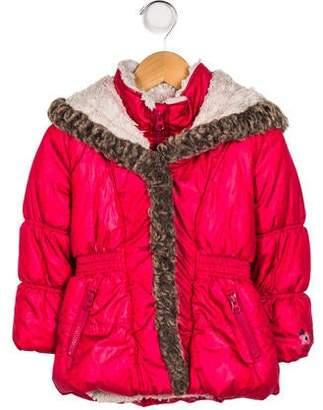 Catimini Girls' Faux-Fur Trimmed Coat