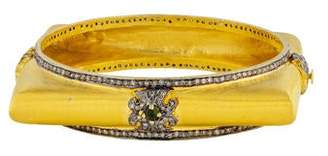 Loren Jewels 14K Diamond & Tourmaline Square Bangle