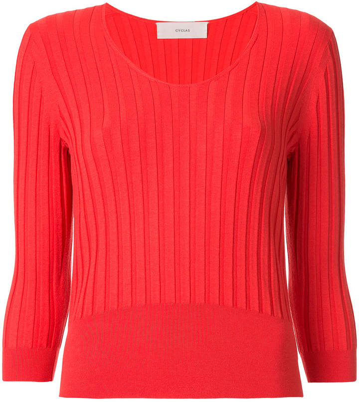 Cyclas striped panel sweater