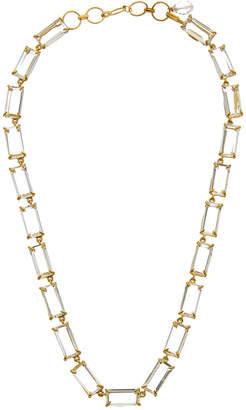 Bounkit 14K Plated Clear Quartz Necklace